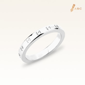 Silver Beawelry Eternity Band