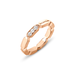 18K Pink Gold Diamond Band Ring