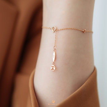 14K Pink Gold Trio Diamonds Bracelet